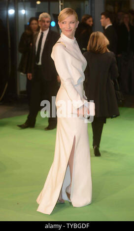 Australian actress Cate Blanchett attends The UK premiere of 'The Hobbit: An Unexpected Journey' at The Odeon Leicester Square and Empire Leicester Square, in London on December 12, 2012.     UPI/Paul Treadway - Stock Photo