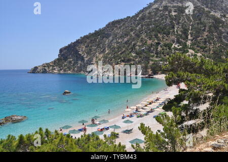 Picture perfect beaches of Karpathos, a small island of Greece in the aegean sea. - Stock Photo