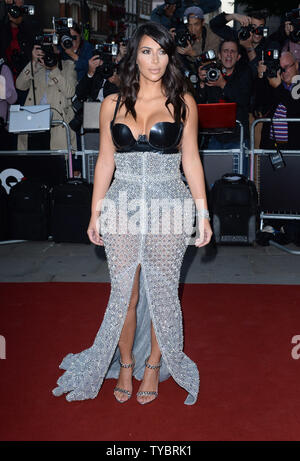 American entrepeneur Kim Kardashian attends the 'GQ Men Of The Year Awards' at the Royal Opera House in London on September 3, 2014.     UPI/ Rune Hellestad - Stock Photo