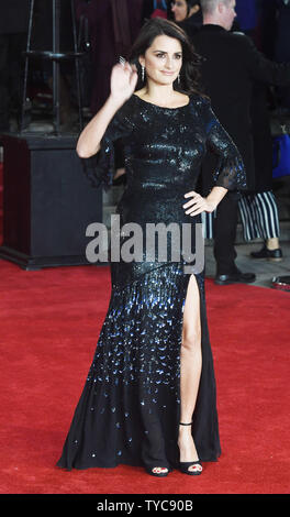 Spanish actress Penelope Cruz attends the world premiere of Murder On The Orient Express at Royal Albert Hall in London on November 2, 2017. Photo by Rune Hellestad/ UPI