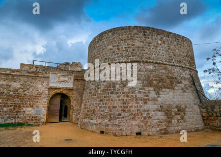 harbour fortress, Othello tower, Famagusta, Nothern Cyprus - Stock Photo