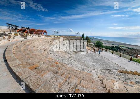 Amphitheater, Ausgrabungsstaette, Kourion, Zypern - Stock Photo
