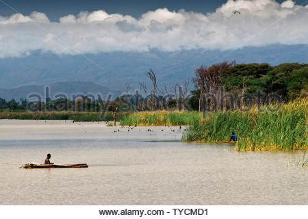 Lake Chamo, Arba Minch, Omo Zone, Ethiopia - Stock Photo