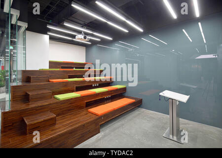 Office space, indoor, outdoor, reality, photography, design, public clothing - Stock Photo