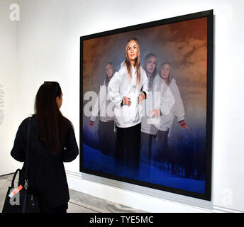 London, UK. 26th June 2019. Cindy Sherman, American photographer and film director showcases works in major retrospective, including the groundbreaking series, Untitled Film Stills, 1977-80, at National Portrait Gallery  London, UK - 26 June 2019 Credit: Nils Jorgensen/Alamy Live News - Stock Photo