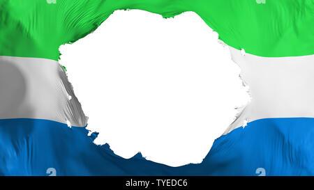 Broken Sierra Leone flag - Stock Photo