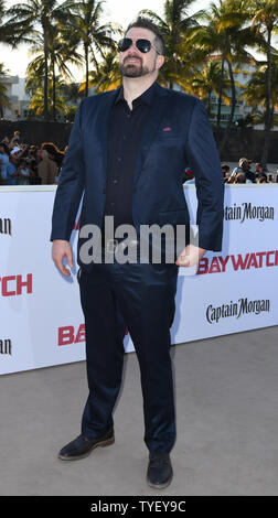 Director Seth Gordon attends the US premiere of the motion picture Baywatch in Lummus Park, Miami Beach, Florida, May 13, 2017. The movie is a remake of the TV series that ran from 1989-2001.   Photo by Gary I Rothstein/UPI - Stock Photo