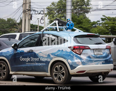 Chiangmai, Thailand - June 25 2019: Honda HRV of Google Street View. Photo from road no.121 outside ring road of chiangmai city. - Stock Photo