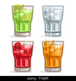 Vector set colorful Drinks - Stock Photo