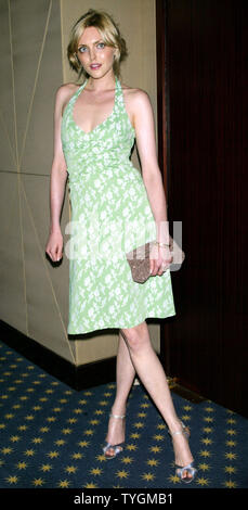 Sophie Dahl poses for pictures at the Screening of 'The Door in the Floor' at the MGM Screening Room in  New York on June 15, 2004.   (UPI Photo/Laura Cavanaugh) - Stock Photo