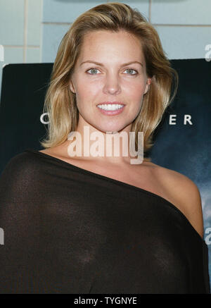 Blanchard Ryan poses for pictures at the screening of 'Open Water' at the Chelsea West Cinemas in  New York on August 2, 2004 .   (UPI Photo/Laura Cavanaugh) - Stock Photo