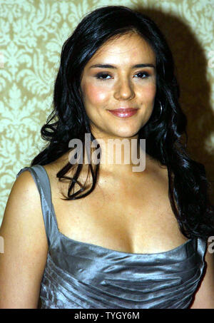 Actress Catalina Sandino Moreno attends the 70th annual New York Film Critics Award ceremonies on 1/9/05 where director Joshua Marston was honored with 'Best First Film' award for his work on their film 'Maria Full of Grace'  (UPI Photo/Ezio Petersen) - Stock Photo