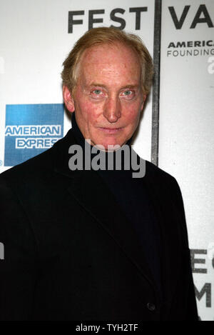 Director Charles Dance arrives for the Tribeca Film Festival screening of 'Ladies in Lavender' at Stuyvesant High School in New York on April 23, 2005.   (UPI Photo/Laura Cavanaugh) - Stock Photo