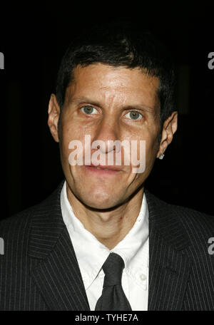 Mike D (Michael Diamond) poses for photographers at the premiere of The Beastie Boys film, Awesome; I  F**kin' Shot That at Loews 34th Street Theater in New York City on March 28, 2006.    (UPI Photo/John Angelillo) - Stock Photo