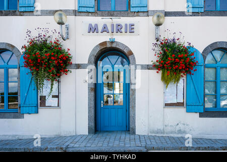 Mairie (Mayor's office), St Benoit des Ondes, Brittany, France - Stock Photo