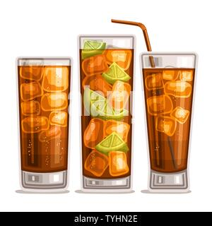 Vector set of fizzy Drinks - Stock Photo