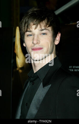 Gaspard Ulliel arrives for the premiere of his new movie 'Hannibal Rising' the AMC Loews Lincoln Center Theater in New York on January 31, 2007.  (UPI Photo/Laura Cavanaugh) - Stock Photo