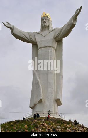 Swiebodzin - Poland / September 19 2011. Huge stature of Jesus Christ with a - Stock Photo