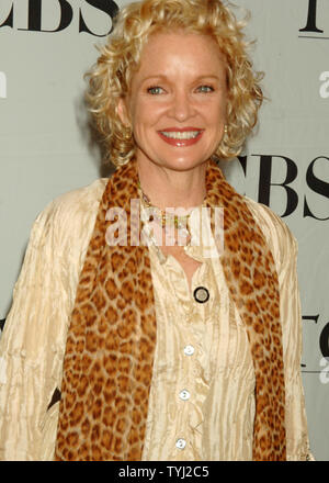 Actress Christine Ebersol, nominated for Best Performance by a Actress in a Musical (Grey Gardens), poses at the 2007 Tony Award nominee reception in New York on May 16, 2007. (UPI Photo/Ezio Petersen) - Stock Photo