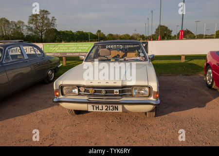 Ford Cortina Mk 3, 1974, Reg No: THJ 213N, at Chew Valley Classic Car Meet - Stock Photo
