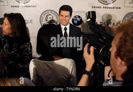 Tom Cruise arrives on the red carpet at the Friars Club and Friars Foundation Entertainment Icon Awards at the Waldorf Astoria in New York City on June 12, 2012.       UPI/John Angelillo - Stock Photo