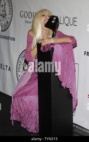 Betsey Johnson arrives on the red carpet at the Friars Club and Friars Foundation Entertainment Icon Awards at the Waldorf Astoria in New York City on June 12, 2012.       UPI/John Angelillo - Stock Photo