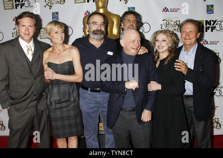 The cast (L-R) Cary Elwes, Robin Wright, Mandy Patinkin, Wallace Shawn, Chris Sarandon, Carol Kane and Billy Crystal attend the 25th Anniversary screening of 'The Princess Bride' at the 2012 New York Film Festival at Alice Tully Hall at Lincoln Center in New York on October 2, 2012.       UPI /Laura Cavanaugh
