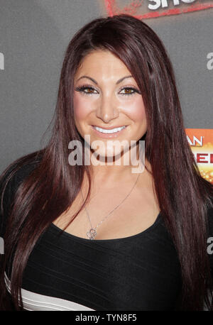 Deena Nicole Cortese arrives on the red carpet for the 'Jersey Shore' Final Season Premiere at Bagatelle in New York City on October 4, 2012.       UPI/John Angelillo - Stock Photo