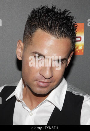 Mike 'The Situation' Sorrentino arrives on the red carpet for the 'Jersey Shore' Final Season Premiere at Bagatelle in New York City on October 4, 2012.       UPI/John Angelillo - Stock Photo