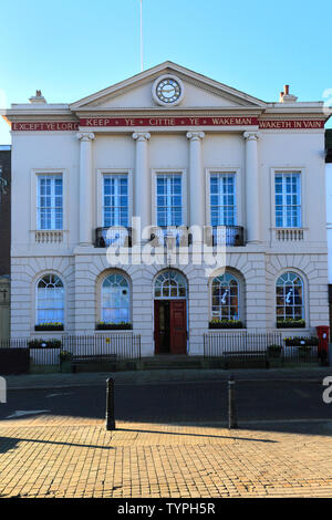 The Town Hall building, Ripon town; North Yorkshire; England; UK - Stock Photo