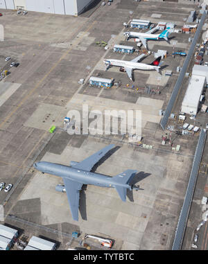 USAF United States Air Force Boeing KC-46A Pegasus (767-2LKC), Boeing Field, Seattle, USA - Stock Photo