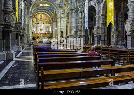 May 9, 2012 - MéRida, Venezuela - Interior view of Basilica Menor Inmaculada Concepcion, Cathedral in Merida. Credit: Ricardo Ribas/SOPA Images/ZUMA Wire/Alamy Live News - Stock Photo
