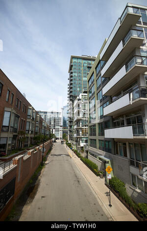 new apartments condo blocks and townhouses in fulton river district including trio blocks west loop Chicago IL USA - Stock Photo