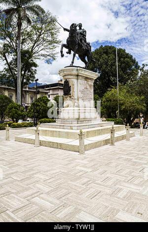 May 10, 2012 - MéRida, Venezuela - A view of the Equestrian statue of Simon Bolivar at Bolivar Square (Plaza Bolivar) in Merida. Credit: Ricardo Ribas/SOPA Images/ZUMA Wire/Alamy Live News - Stock Photo