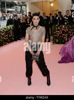 James Charles arrives on the red carpet at The Metropolitan Museum of Art's Costume Institute Benefit 'Camp: Notes on Fashion' at Metropolitan Museum of Art in New York City on May 6, 2019.       Photo by John Angelillo/UPI - Stock Photo