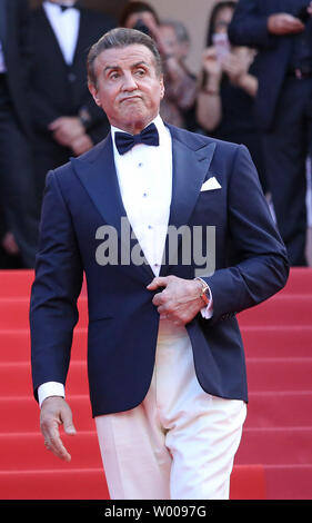 Sylvester Stallone arrives on the red carpet at the closing ceremony before the screening of the film 'The Specials' at the 72nd annual Cannes International Film Festival in Cannes, France on May 25, 2019.  Photo by David Silpa/UPI - Stock Photo
