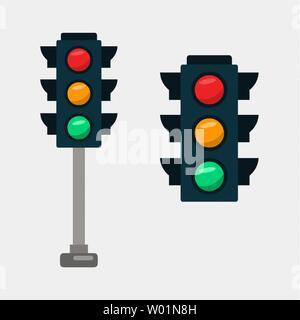 traffic light vector illustration - Stock Photo