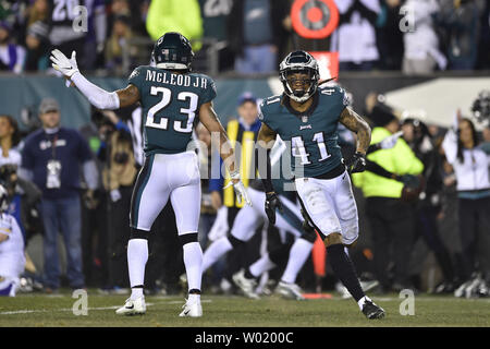65e67547b1d74d ... Philadelphia Eagles cornerback Ronald Darby (41) celebrates with Rodney  McLeod after an interception during