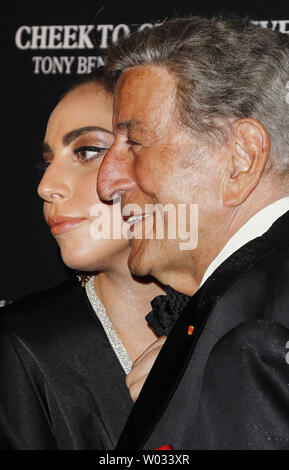 Tony Bennett and Lady Gaga arrive on the red carpet before