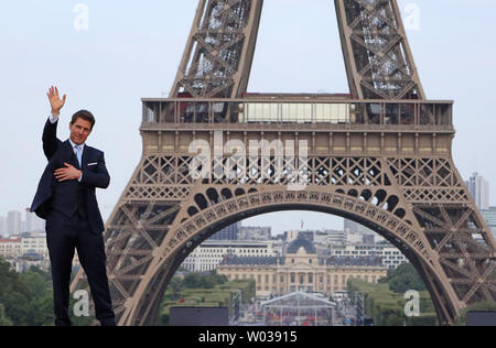 Tom Cruise attends the world premiere of the film 'Mission: Impossible - Fallout' in Paris on July 12, 2018. Photo by David Silpa/UPI - Stock Photo