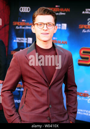 Hollywood, California, USA 26th June 2019 Actor Tom Holland attends Columbia Pictures Presents The World Premiere of 'Spider-Man Far From Home' on June 26, 2019 at TCl Chinese Theatre in Hollywood, California, USA. Photo by Barry King/Alamy Live News - Stock Photo