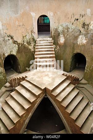 Underground mosque in Taman Sari. Taman Sari, or Taman Sari Water Castle, is a heritage site in former royal garden of the Yogyakarta Sultanate. - Stock Photo