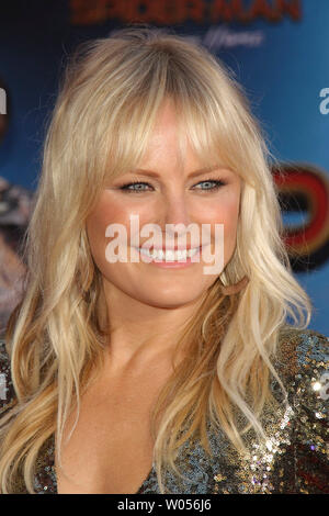 Los Angeles, USA. 26th June, 2019. Malin Akerman at Columbia Pictures' and Marvel Studios' 'Spider-Man Far From Home' World Premiere held at the TCL Chinese Theatre in Hollywood, CA, June 26, 2019. Photo Credit: Joseph Martinez/PictureLux - All Rights Reserved Credit: PictureLux/The Hollywood Archive/Alamy Live News - Stock Photo
