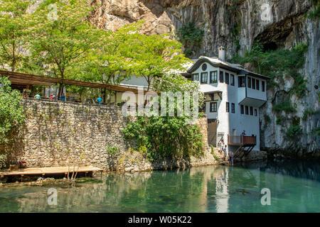 Dervish House, Blagaj, Bosnia-Herzegovina - Stock Photo