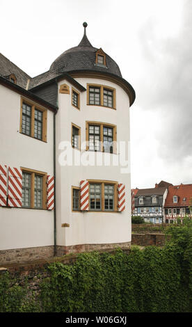 Altes Schlossat (Old castle) in Hochst (district of Frankfurt am Main). Germany - Stock Photo