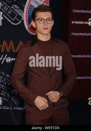 Los Angeles, USA. 26th June, 2019. Tom Holland 052 arrives for the premiere of Sony Pictures' 'Spider-Man Far From Home' held at TCL Chinese Theatre on June 26, 2019 in Hollywood, California Credit: Tsuni/USA/Alamy Live News - Stock Photo