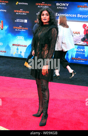 Hollywood, California, USA 26th June 2019 Actress Kumari  attends Columbia Pictures Presents The World Premiere of 'Spider-Man Far From Home' on June 26, 2019 at TCl Chinese Theatre in Hollywood, California, USA. Photo by Barry King/Alamy Live News - Stock Photo