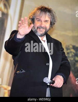 Director Peter Jackson attends the Japan premiere for the film 'The Hobbit: An Unexpected Journey' in Tokyo, Japan, on December 1, 2012. The film will open on December 14 in Japan.     UPI/Keizo Mori - Stock Photo