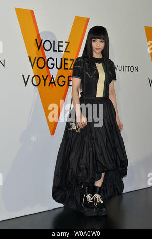 Chinese actress Fan Bingbing attends a reception of Louis Vuitton's art exhibition in Tokyo, Japan on April 21, 2016.     Photo by Keizo Mori/UPI - Stock Photo