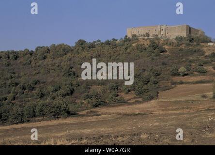 italy, basilicata, lagopesole, view of the castle - Stock Photo